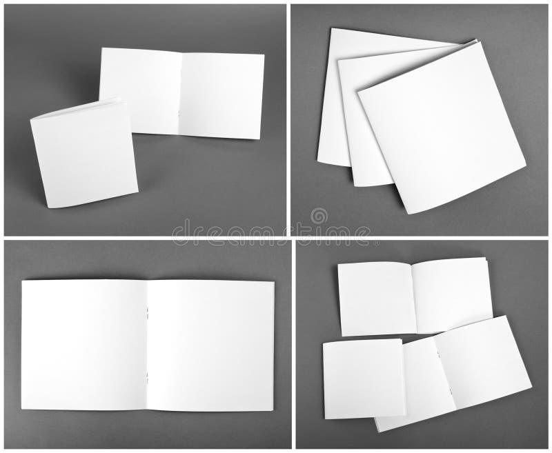 Set pusty magazyn, katalog, broszurka, magazyny, książka na grą zdjęcia royalty free