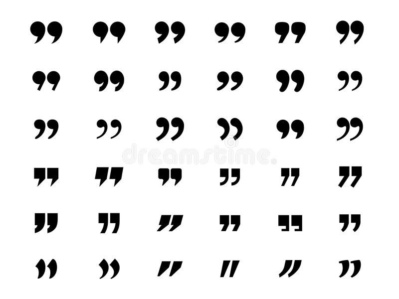 Set of quotation marks vector illustration