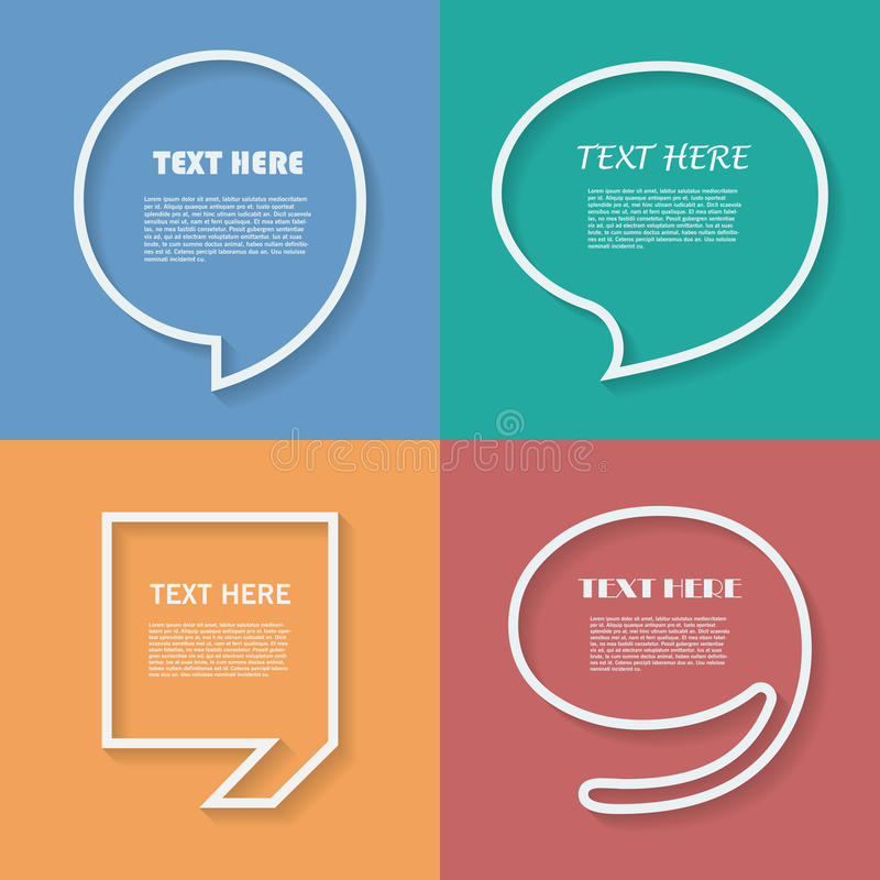 Set of Quotation. Speech Bubble templates with vector illustration