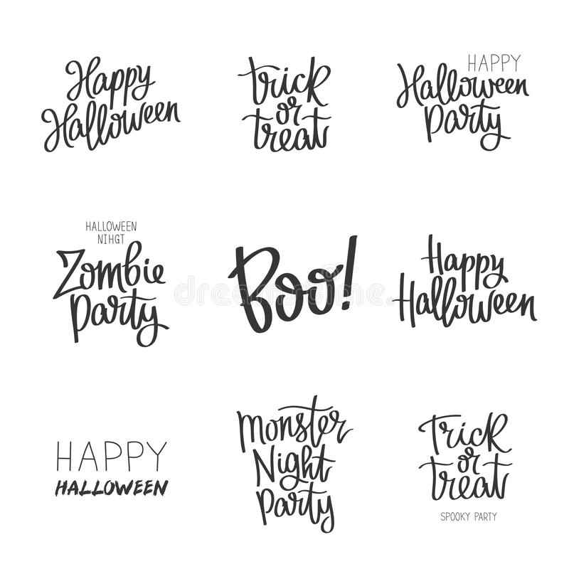 Set quotes on Halloween stock vector. Image of nbohemian - 73898564