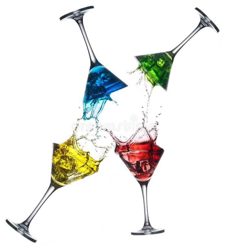 Set różni alkoholiczni koktajle - Martini fotografia stock