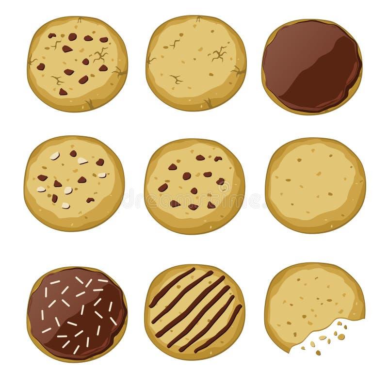Set różni ciastka ilustracja wektor