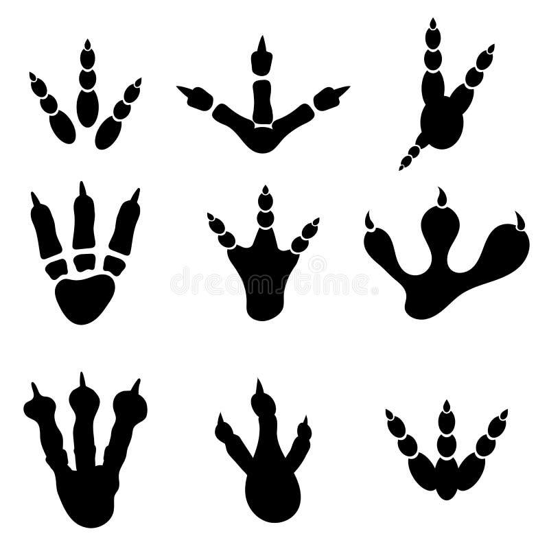 Set Różni druki Odizolowywający royalty ilustracja