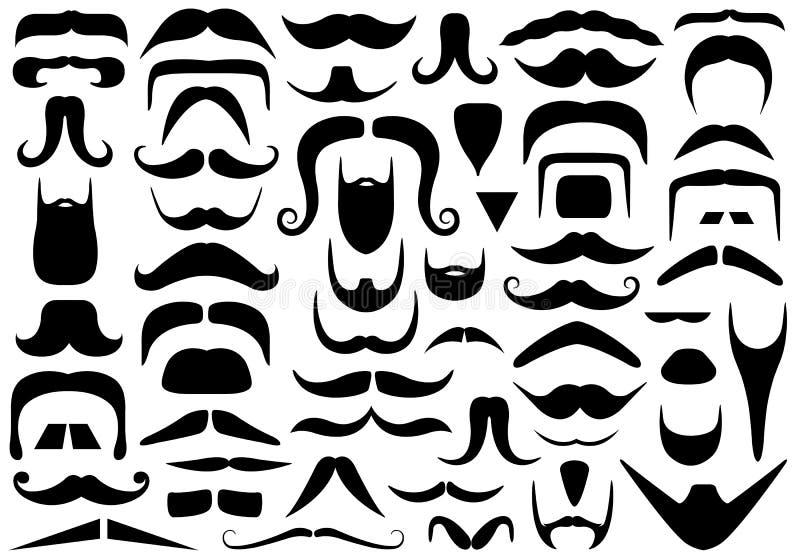 Set Różni wąsy ilustracji