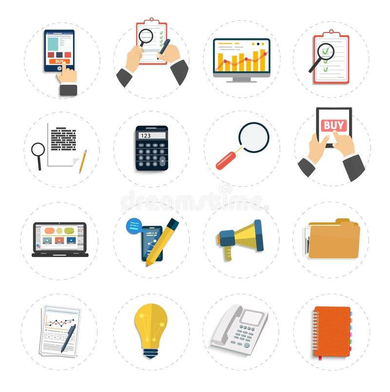 Set różnorodne pieniężnej usługa rzeczy ilustracja wektor