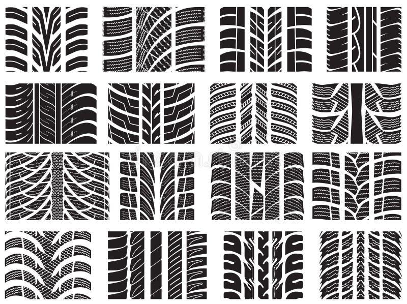Set różnorodni opon stąpania ilustracja wektor
