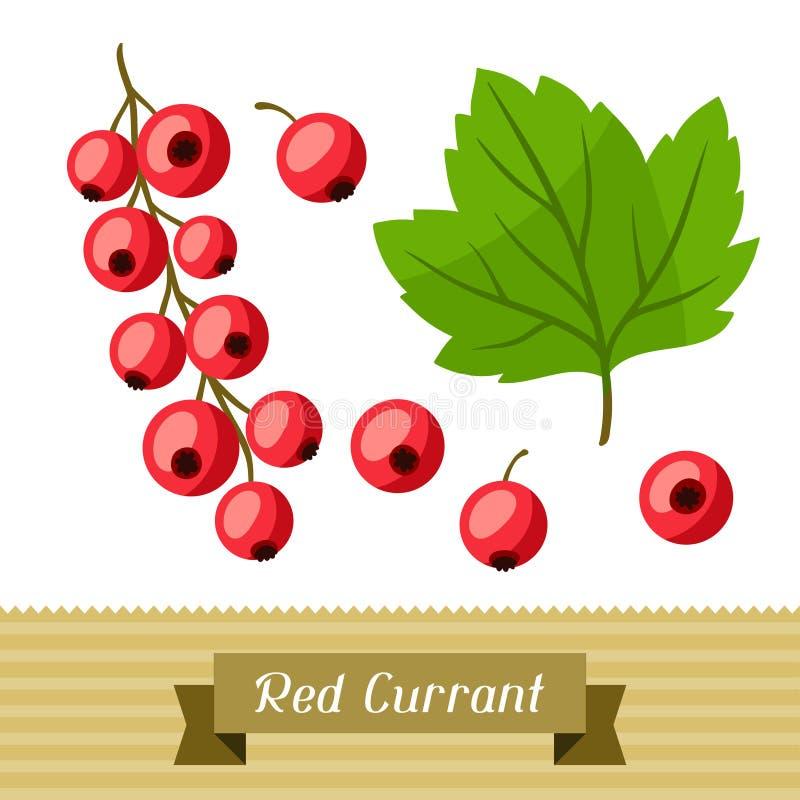 Set różnorodni stylizowani czerwoni rodzynki royalty ilustracja