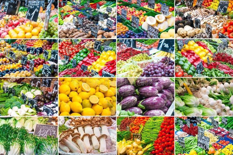 Set różnorodny owoc i warzywo fotografia royalty free
