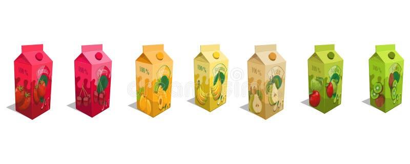 Set różny soku produkt royalty ilustracja