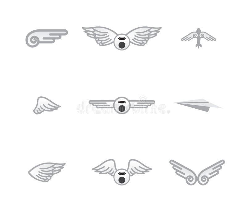 Download Set Różni Samolotowi Logowie Ilustracji - Ilustracja złożonej z ścieżka, logo: 28955005