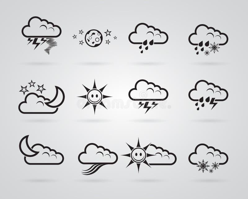 Download Set Różny Siwieje Pogodowe Ikony Ilustracji - Ilustracja złożonej z klimat, deszcz: 28950785