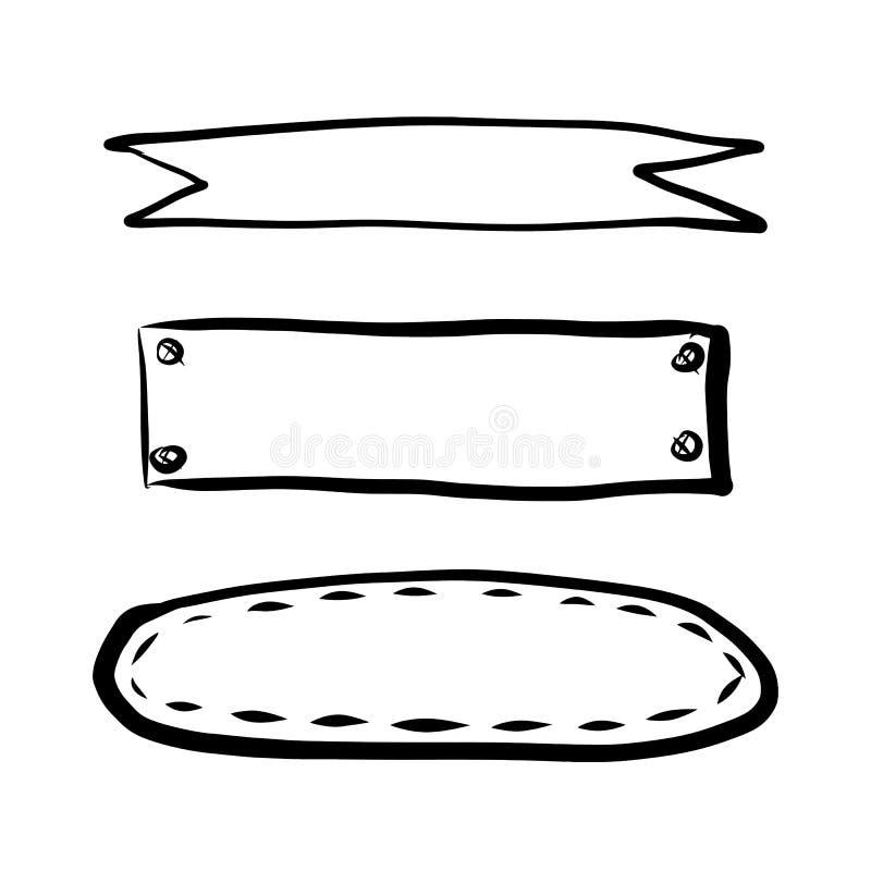 Set ręka rysujący elementy royalty ilustracja