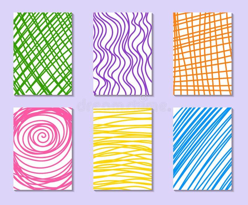 Set ręki Rysować cech ogólnych karty royalty ilustracja