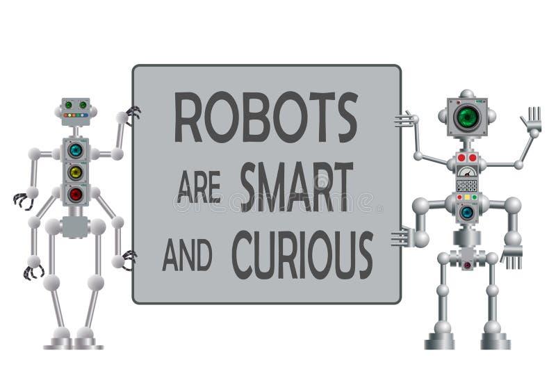 Set r??norodni humanoid roboty wektor ilustracja wektor