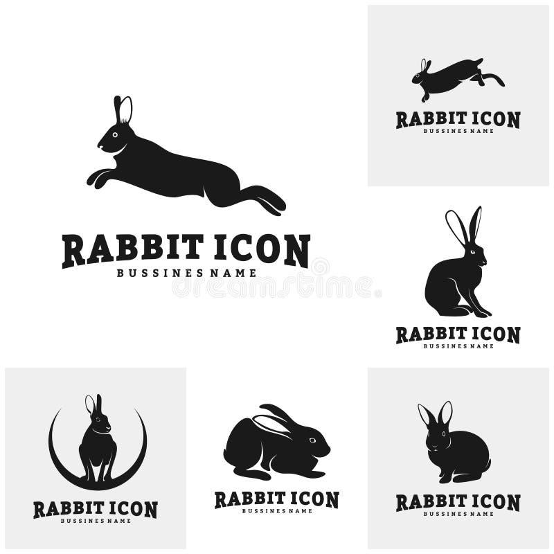 rabbit vector silhouette stock vector  illustration of brand
