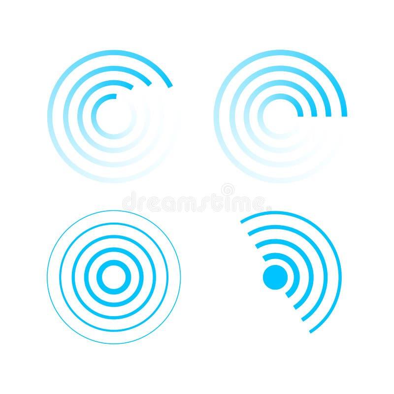 Set of radar icons. vector illustration