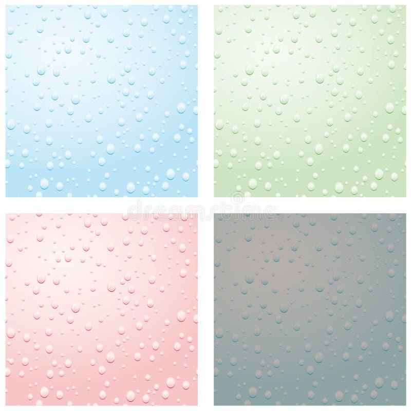 A Set Of Raindrops Stock Photo