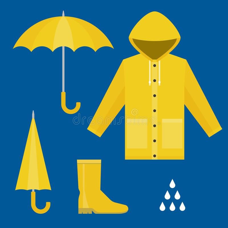 Rainy Season Clothes Stock Illustrations – 506 Rainy ...