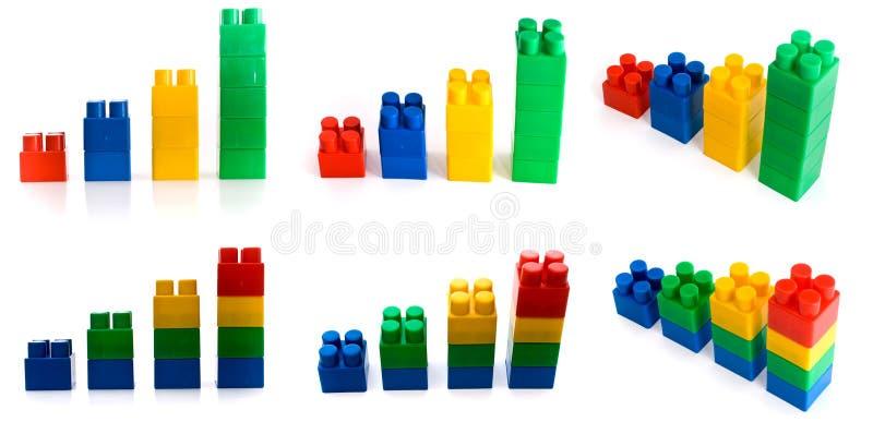 Download Set Of Raising Charts From Bulding Block Stock Photo - Image of bricks, bright: 8476942