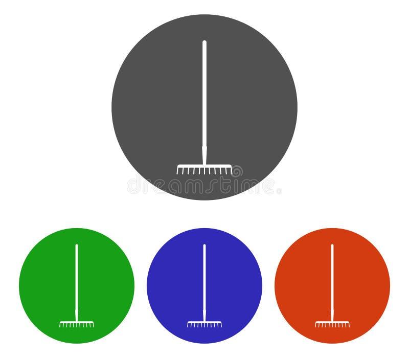 Set of rake icons illustrated. On white background royalty free illustration
