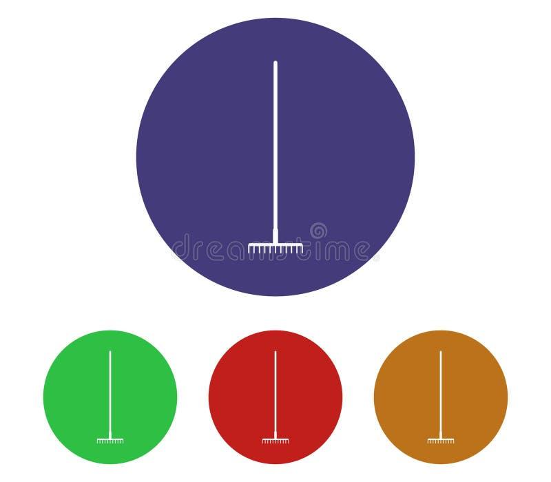 Set of rake icons illustrated. On white background vector illustration