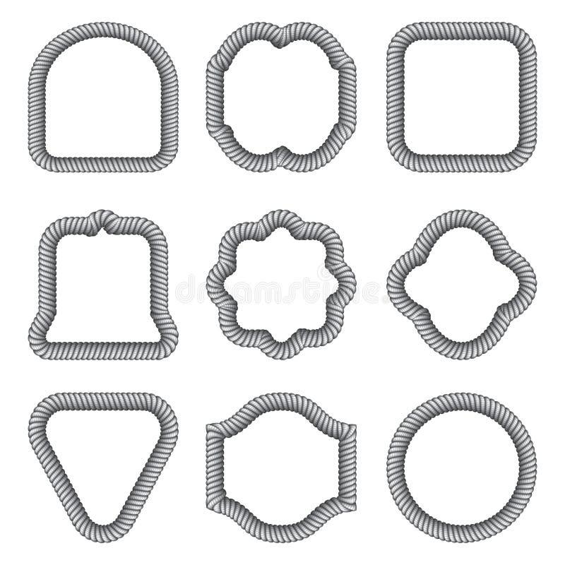 Set ramy różni kształty od arkany wektor ilustracja wektor