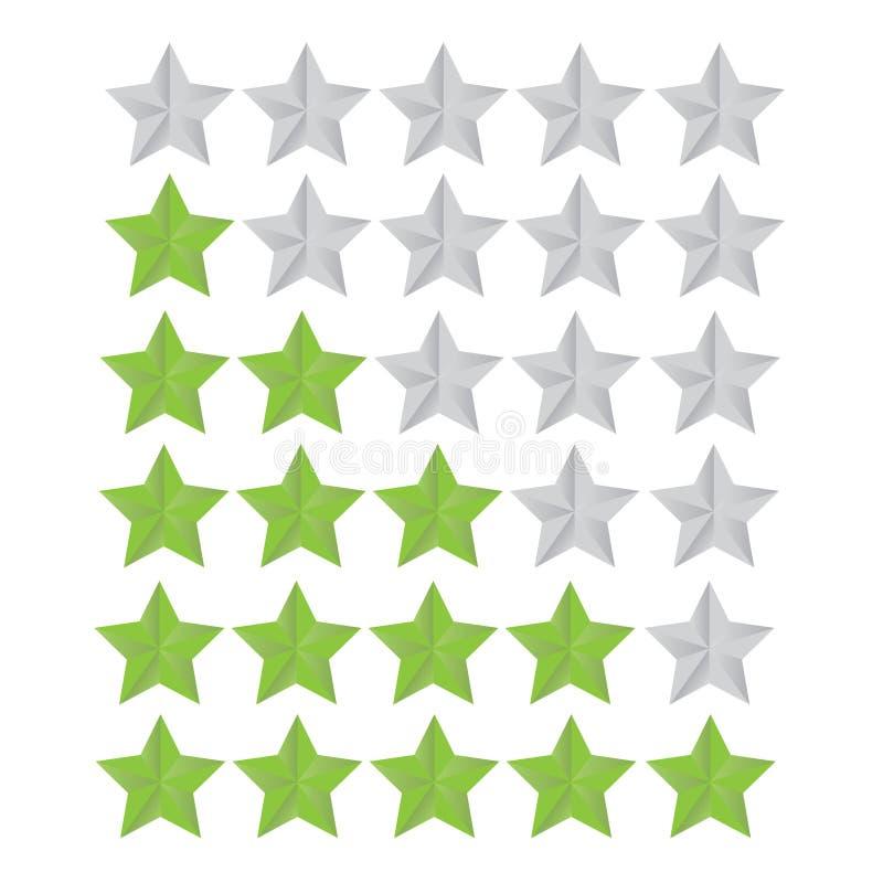 Set Rating Star. A Set Rating Star for your website royalty free illustration