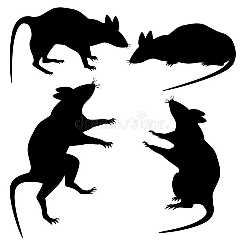 Set of rats to the day of Halloween. royalty free illustration