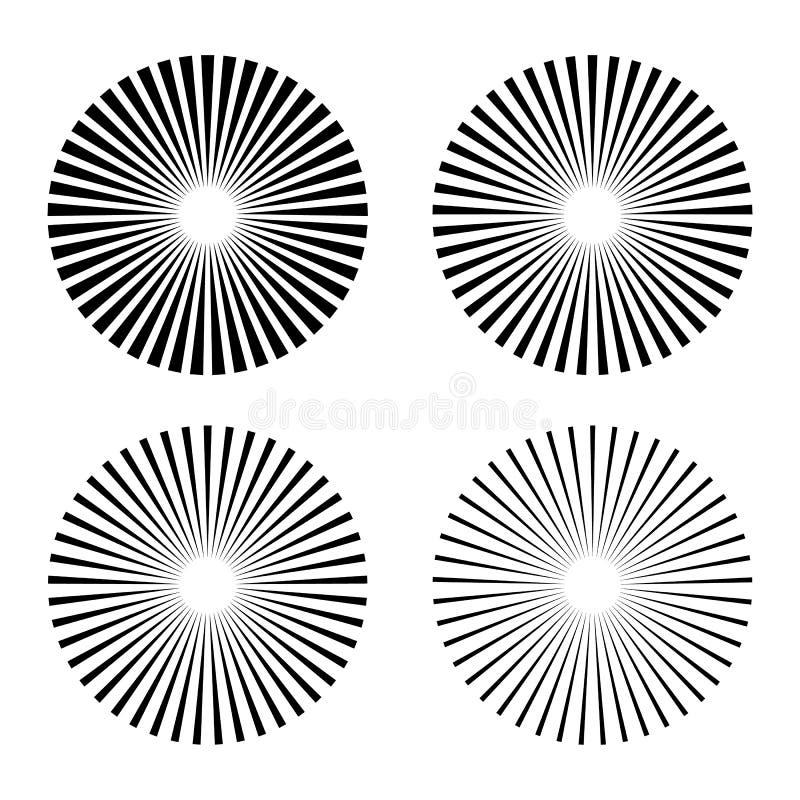Set rays, beams element stock illustration