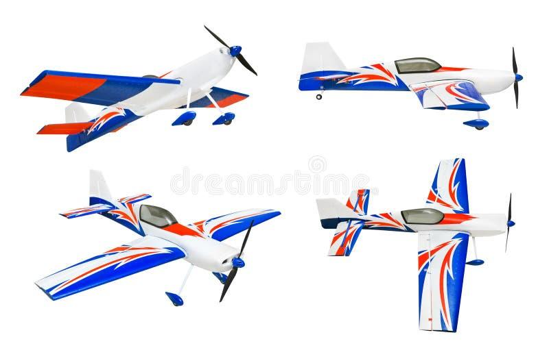 Set of RC plane. Isolated on white background stock photo