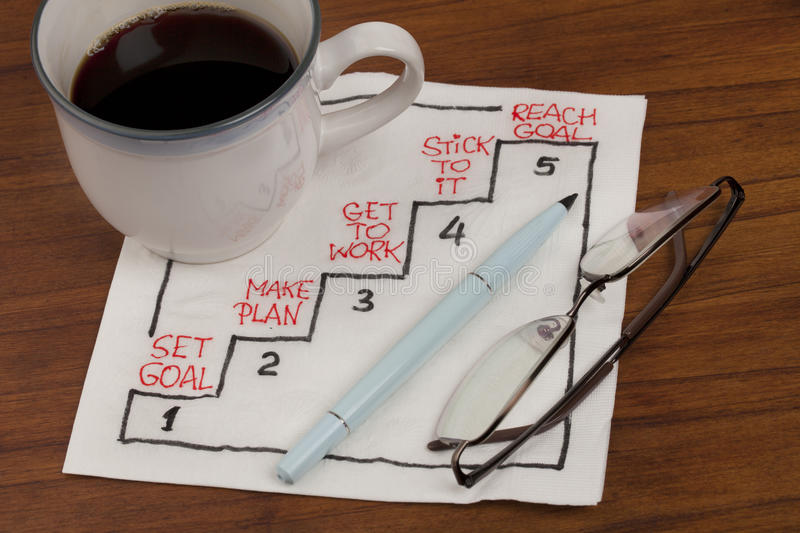Download Set and reach goal concept stock image. Image of napkin - 16119381