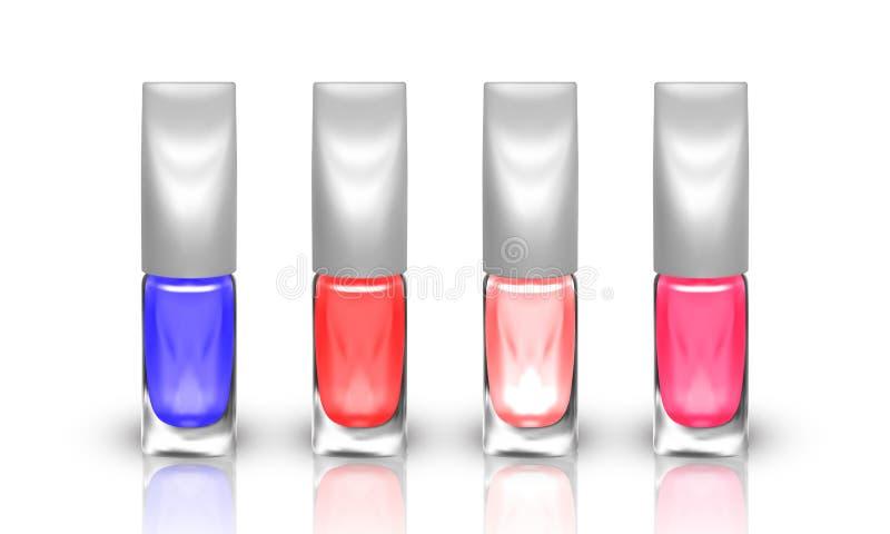 Set of realistic nail polish isolated on white background. illustration vector illustration