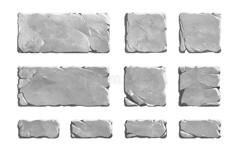 Set realistyczni kamienni guziki royalty ilustracja