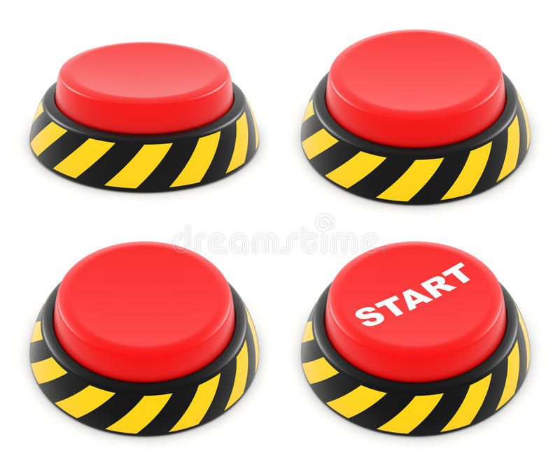 Download Set of red buttons stock image. Image of click, hazard - 24465213