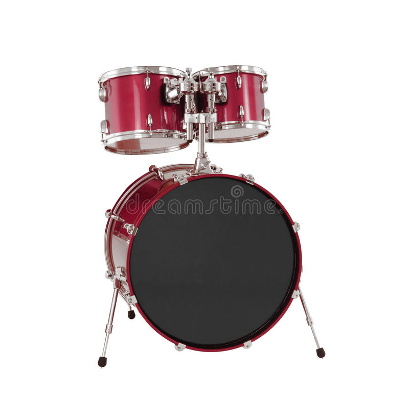 Set of Red drums isolated royalty free stock photo
