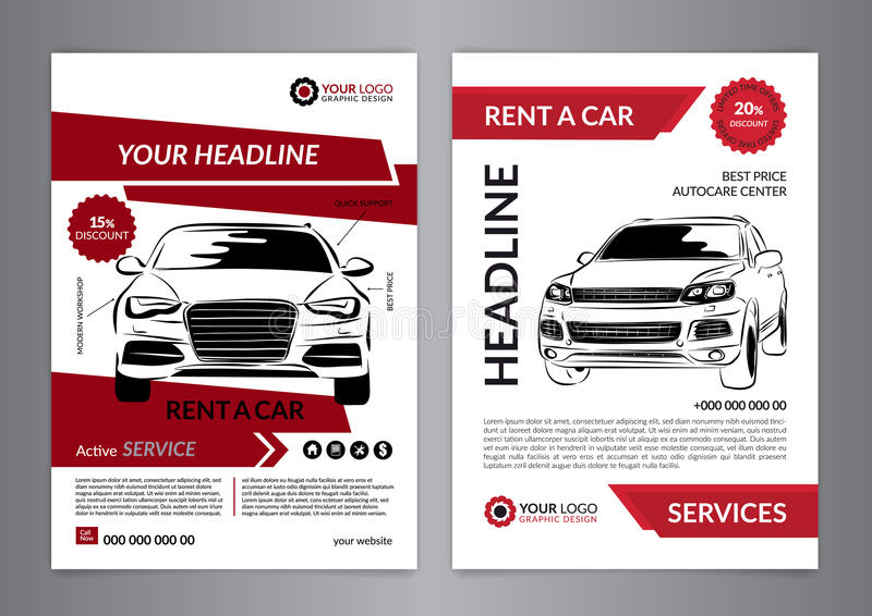download set a4 rent a car business flyer template auto service brochure templates automobile