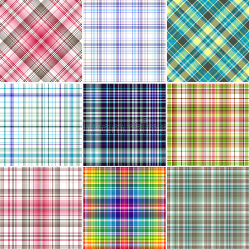 Set Repeating Patterns Royalty Free Stock Photos