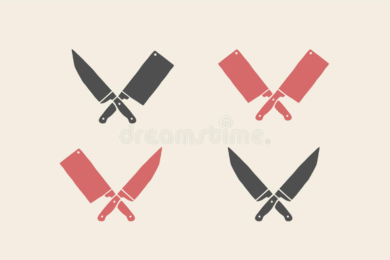 Set restauracyjne nóż ikony royalty ilustracja