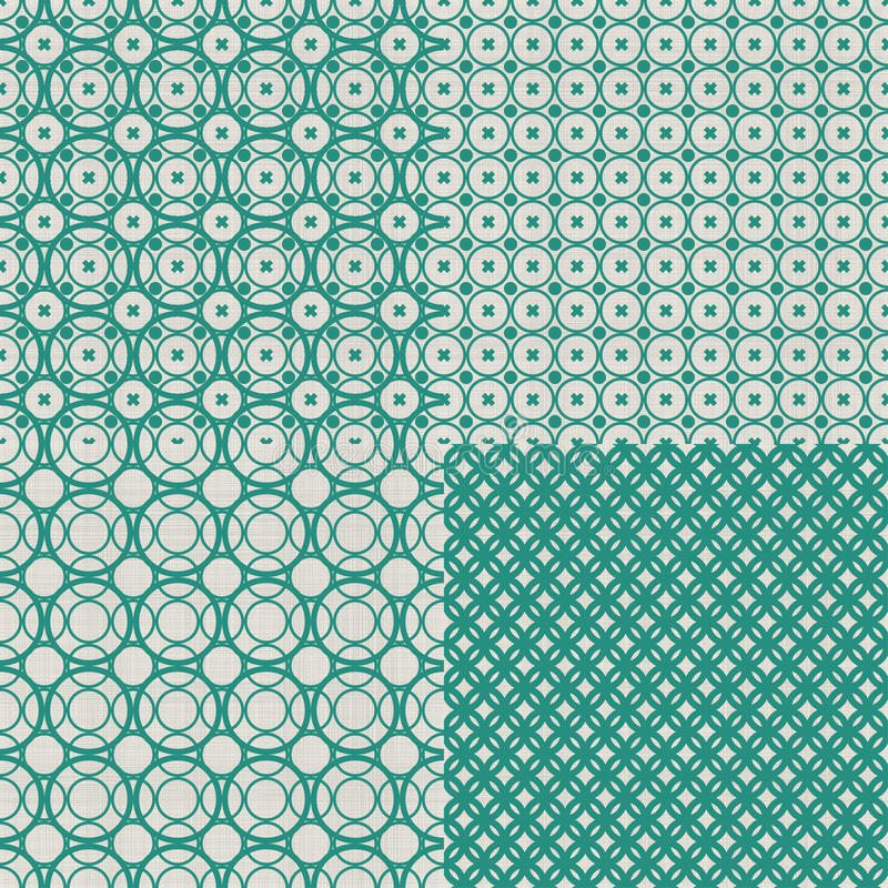 Set retro abstrakcjonistyczny bezszwowy tło z bajecznym ilustracji