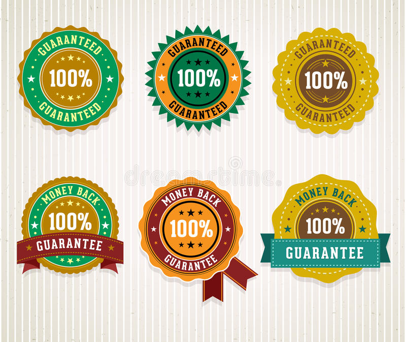 Download Set of retro badges. stock vector. Image of commerce - 34274695
