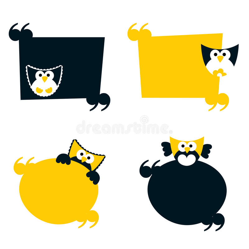 Download Set of retro frames stock vector. Image of cartoon, animal - 18410533