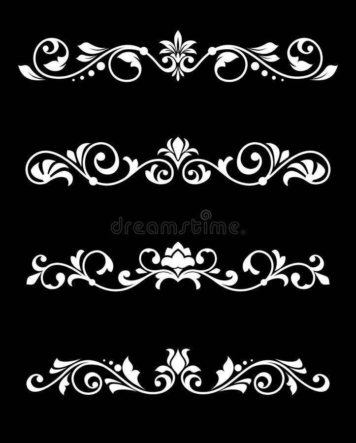 Retro granicy i dividers royalty ilustracja