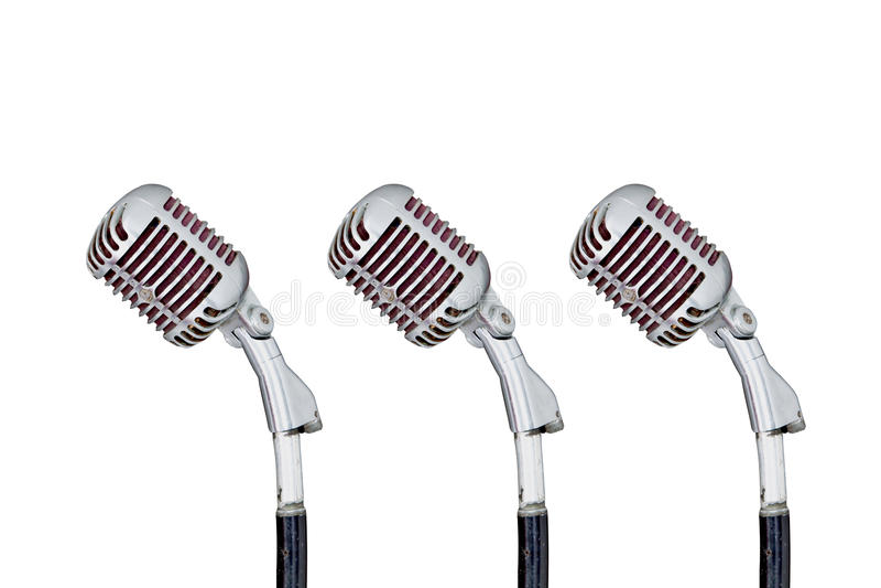 Set of Retro Microphone stock photography