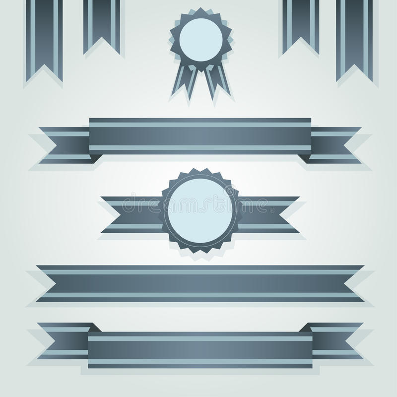 Download Set Of Retro Ribbons And Labels Stock Photos - Image: 24044913