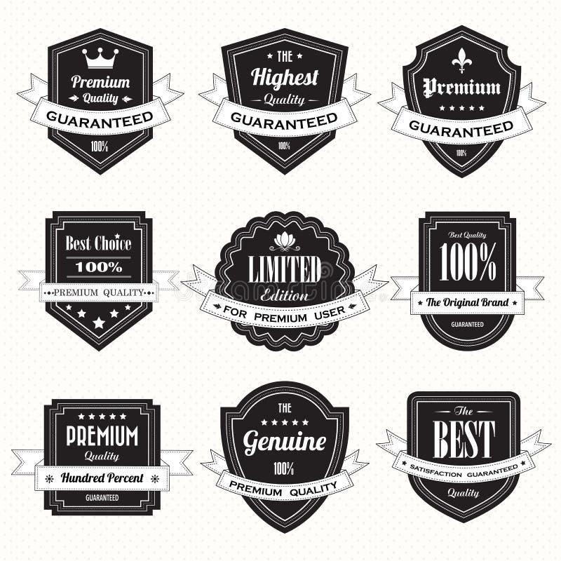 Set retro rocznik odznaki, etykietki i ilustracji