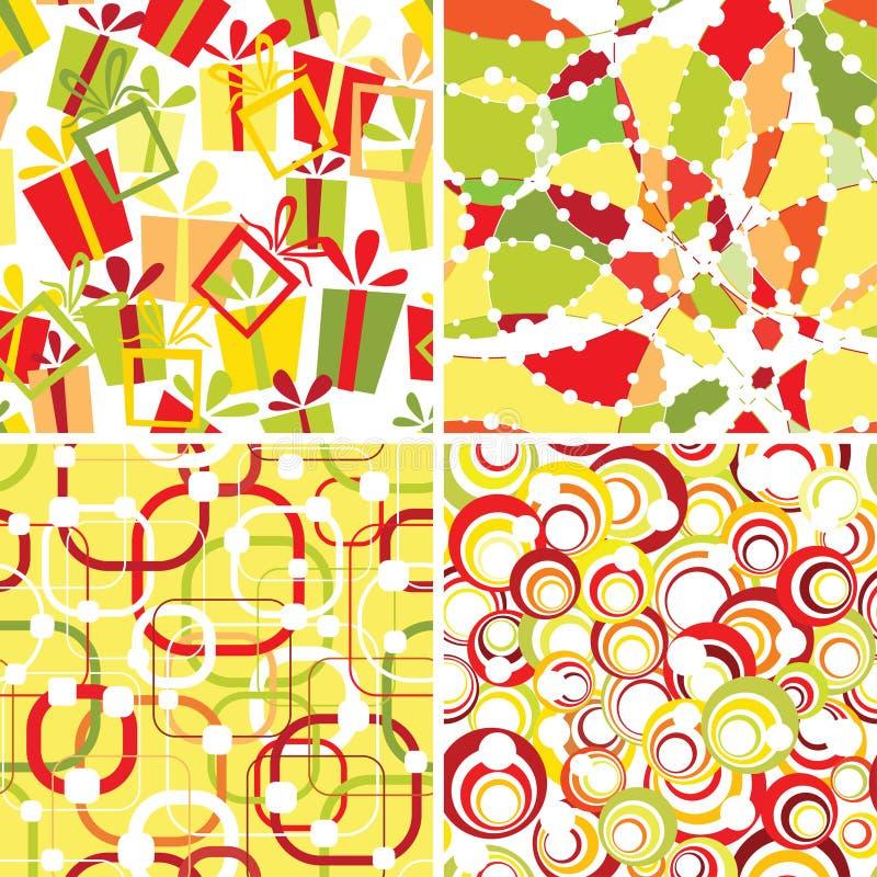 Download Set Of Retro Seamless Ornaments Stock Illustration - Image: 22381815