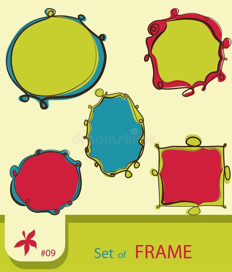 Set of retro style frame royalty free illustration