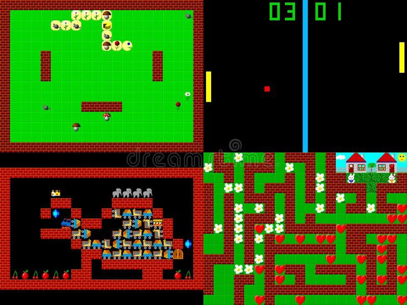 Set retro stylowa gra pixelated grafika ilustracja wektor