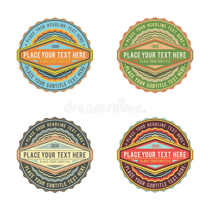 Set of retro vintage style logo banner label vector illustration