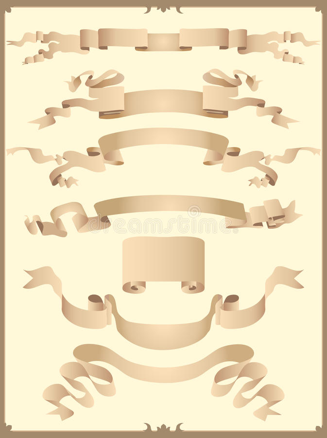 Download Set of ribbons stock vector. Image of ribbons, winding - 19820140